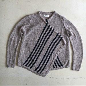 Lou & Grey stripe knit cardigan wrap, small